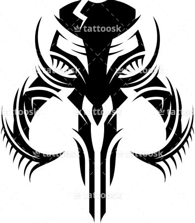 star wars tribal tattoo mandalorian skull tattoosk printables