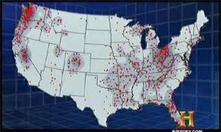 map of bigfoot sightings in the united states gummerfan s hq dammit planet