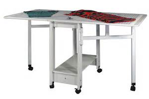 Drop Leaf Craft Table Sewingrite Cutting Craft Utility Table With Compact Drop Leaf U Casters White Ebay
