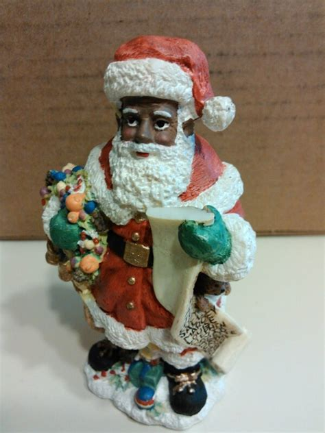 statue black santa claus pinterest