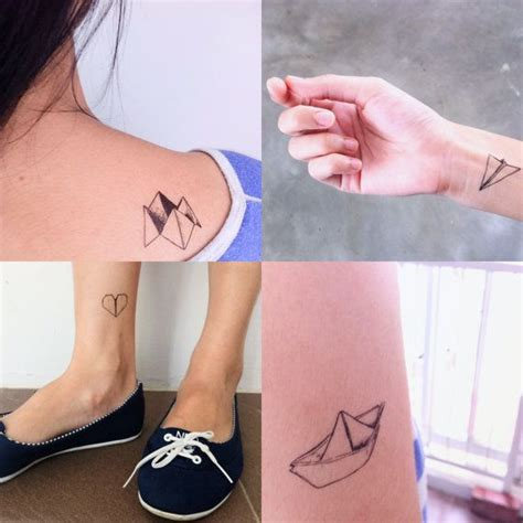 tattoo paper singapore temporary tattoos set of 5 designs paper boat