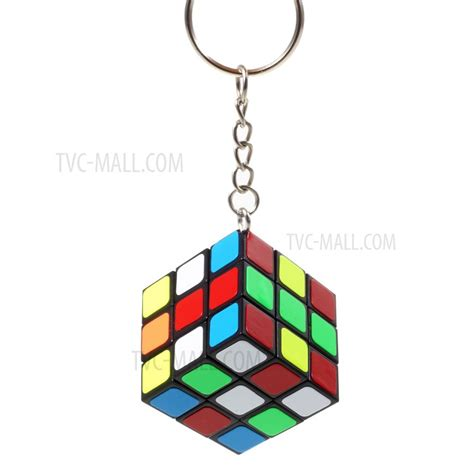 Diskon Infinity Rubic Cube Infinite Fidget Toys mini 3x3x3 rubik magic cube keychain pendant black
