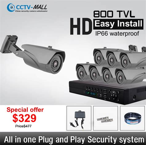 wholesale diy home security system 800tvl 8 channel hd 8