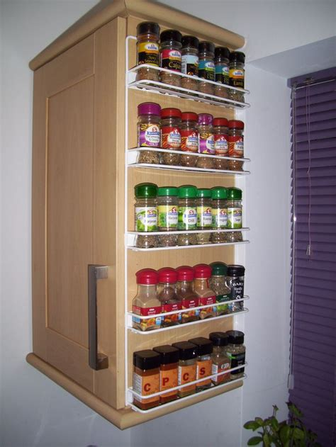 Cupboard Spice Racks big spice rack and use of the side of an end cabinet every cook needs a spice rack