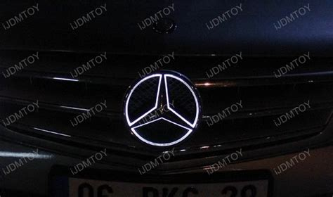 Mercedes Light Up Emblem by Led Illuminated White Kit To Light Up Mercedes C Glk Center Grille Emblem Ebay