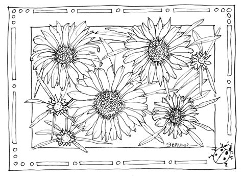 abstract sunflower coloring page sunflower coloring pages bestofcoloring com