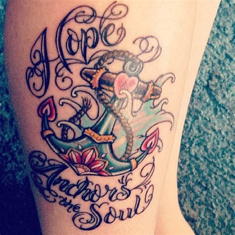 hope anchors the soul tattoo anchor the soul image tattooshunt
