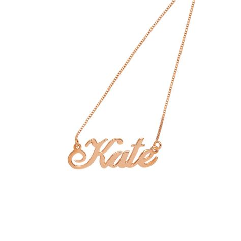 personalised handmade name necklace by lou of