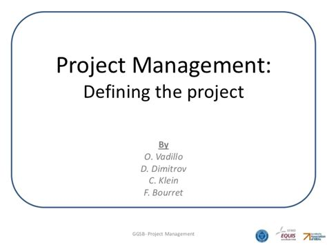 Project Management Defining The Project What Is Wsr In Project Management