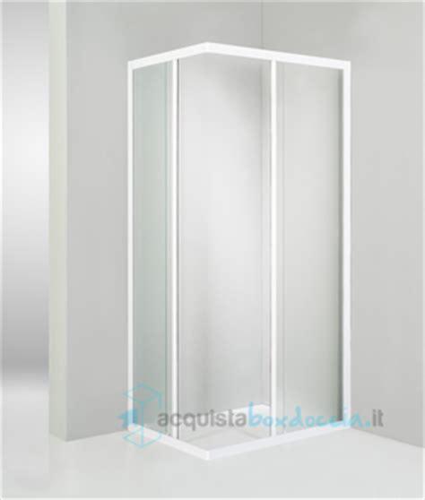 piatto doccia 60x100 box doccia angolare porta scorrevole 60x100 cm opaco bianco