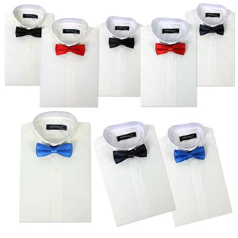 patterned dinner shirt boys wing collar shirts bow tie kids tuxedo suit shirt