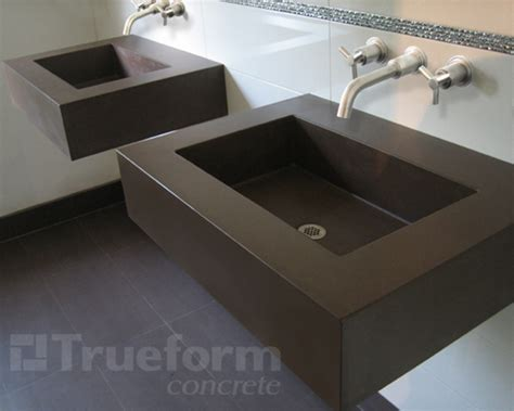 floating bathroom sinks floating concrete sink trueform decor