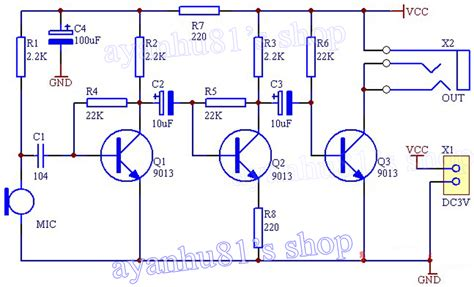 electret microphone lifier circuit also electret microphone lifier electret microphone schematic positive class a microphone
