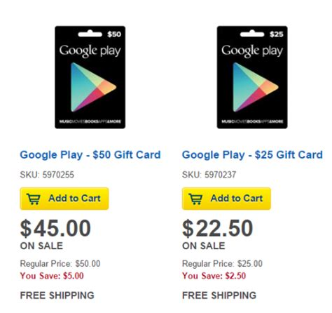 Android Gift Cards - save 10 on google play gift cards most android app stores mylitter one deal at