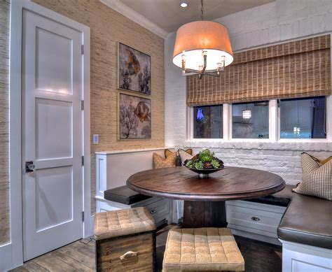 dining room with white wall tiles shaker style kitchens shaker door style dining room modern with leather and
