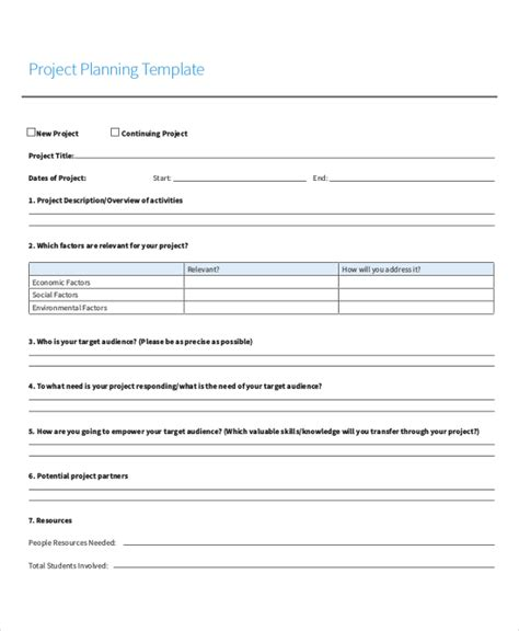 Sheets Project Plan Template Project Sheet Template 7 Free Pdf Documents Download Free Premium Templates