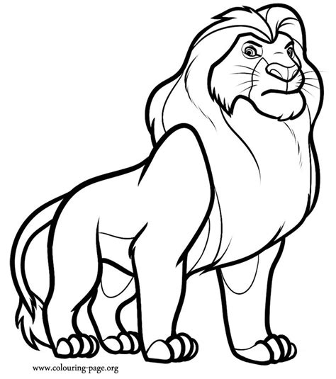 the lion king mufasa coloring page