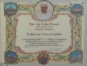 Papal Wedding Blessing Uk by Richard And Arambula S Get Well Wishes From