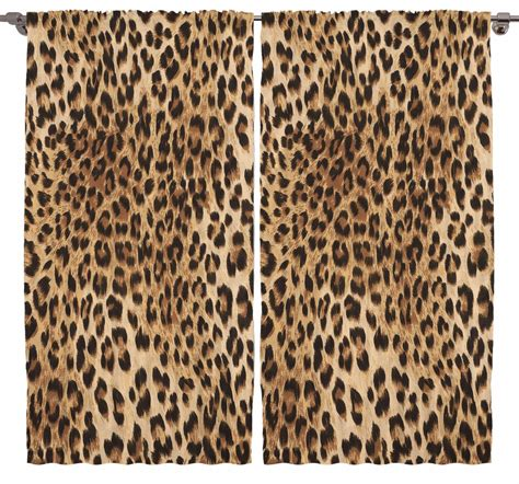 leopard window curtains leopard tiger zebra print bedroom living room dining kids