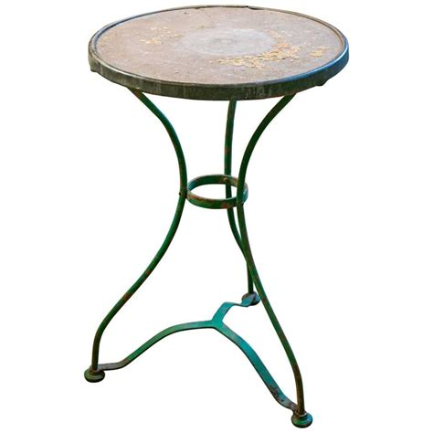 Vintage Bistro Table Vintage Iron Bistro Table With Marble Top For Sale At 1stdibs
