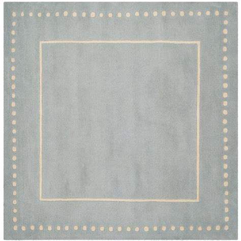 Safavieh Bella Light Blue Ivory 5 Ft X 5 Ft Square Area 5 X 5 Area Rug