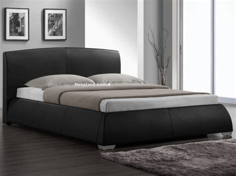 napoli bedroom furniture sleepland beds napoli black faux leather bed frame 5ft