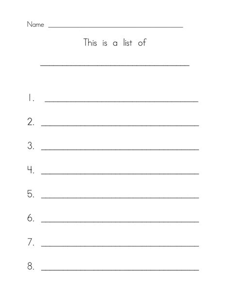 printable numbered writing paper 5 best images of printable list with numbered lines