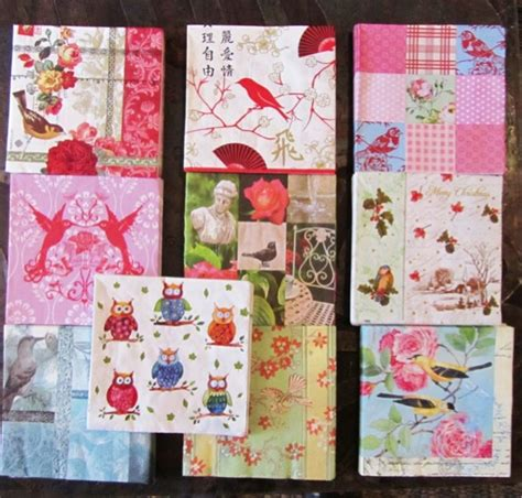 Decoupage Serviettes - 20 bird paper napkin serviettes decoupage mixed lot bird
