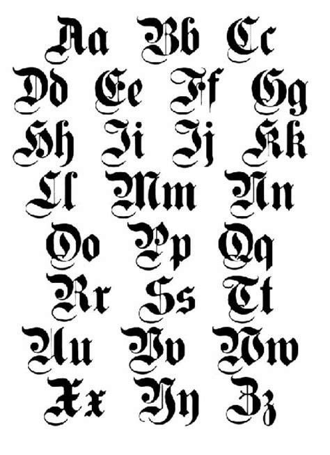 tattoo old english alphabet old english lettering tattoos high quality photos and
