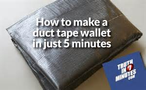 how to make a duct tape wallet in just 5 minutes video