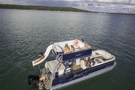 pontoon party boat with slide best 25 pontoon boat with slide ideas on pinterest