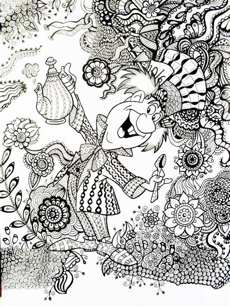 portraits coloring book a coloring adventure for adults coloring by volume 2 books mad hatter in an exle of how a regular