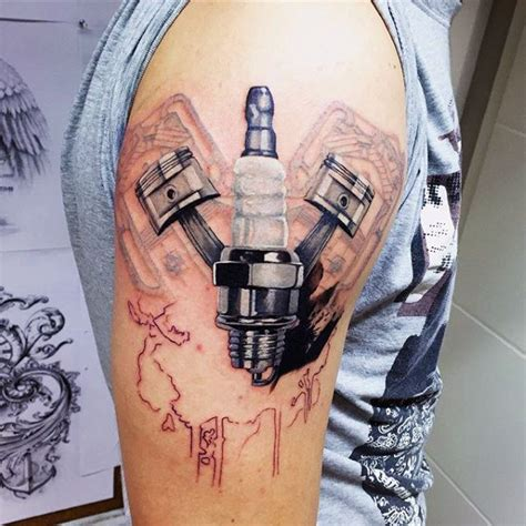 engine tattoos 50 engine tattoos for motor design ideas