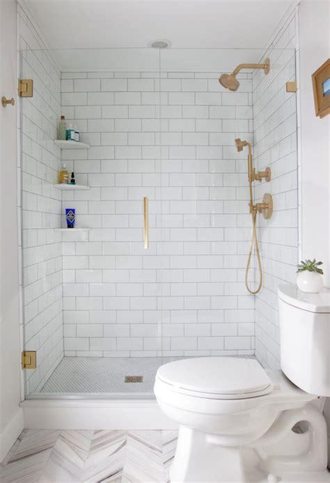 gold bathroom tile gold shower kit transitional bathroom erin gates design
