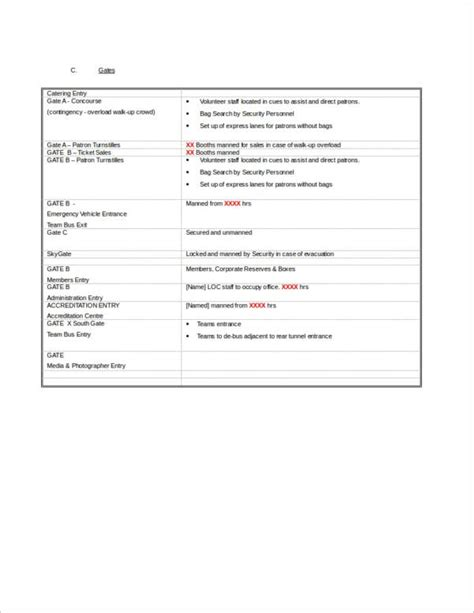 event safety plan template 9 event planner sles templates pdf word
