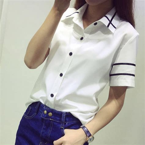 Korean Style Shirt korean style casual shirt button sleeve