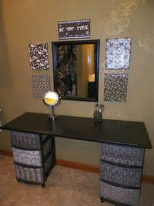Diy Makeup Desk Diy Makeup Vanity Brilliant Setup For Your Room