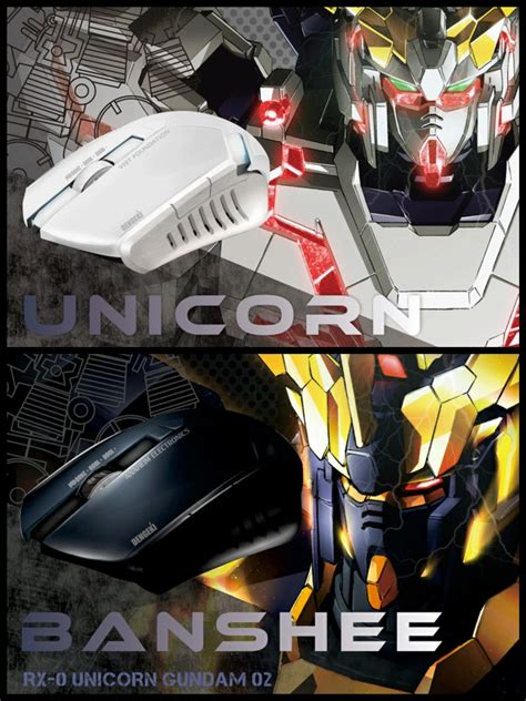 Mousepad Gundam Unicorn Banshee gundam unicorn and banshee mice by dengeki gundam kits