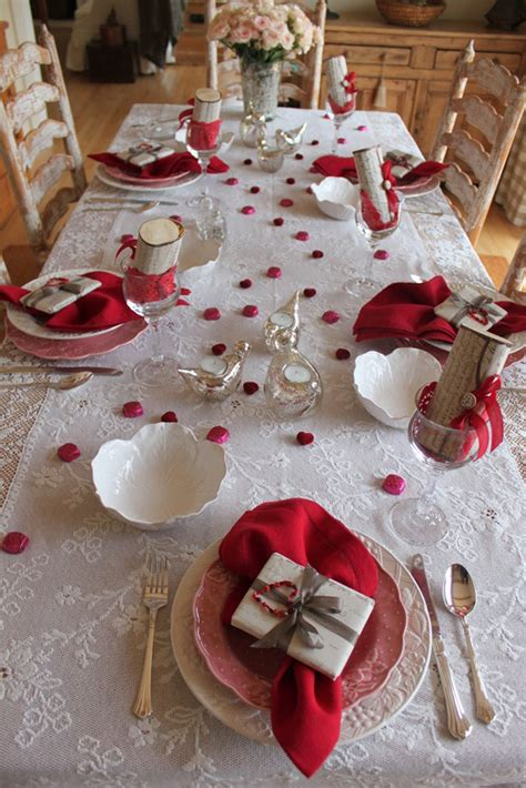 Valentines Day Tablescapes by Romantic Valentine Day Table Ideas
