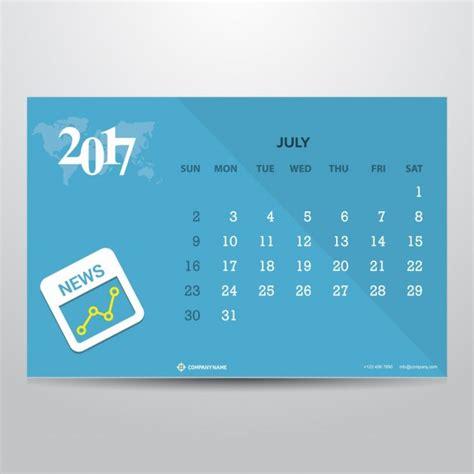 Calend Julho 2017 Molde Do Calend 225 De Julho 2017 Baixar Vetores Gr 225 Tis