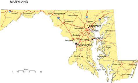 united states map of maryland maryland map