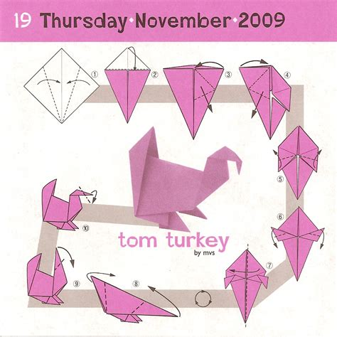 Easy Origami Turkey - november 2008 chimney smoke