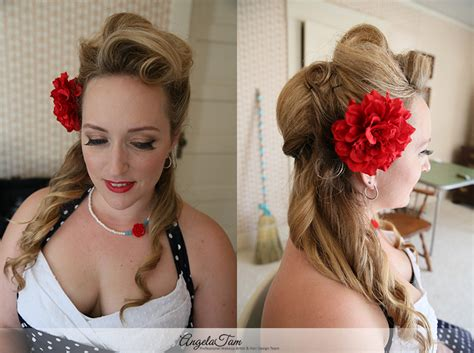 1920 S Pin Up Hairstyles by Los Angeles Pinup 1920 S Vintage Rockabilly Makeup Artist