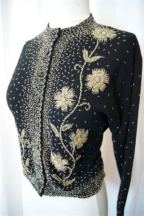beaded cardigan sweaters 17 best images about vintage beaded sweaters on