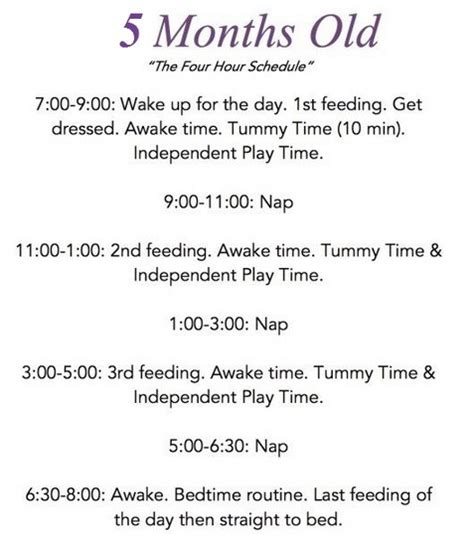 fruit 5 month baby 5 month baby feeding schedule solids feeding guide