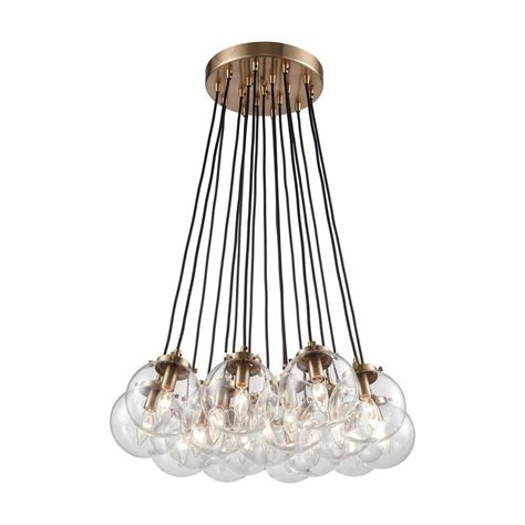 Clear Glass Chandeliers Titan Lighting Boudreaux 17 Light Matte Black And Antique Gold Chandelier With Clear Glass Globe
