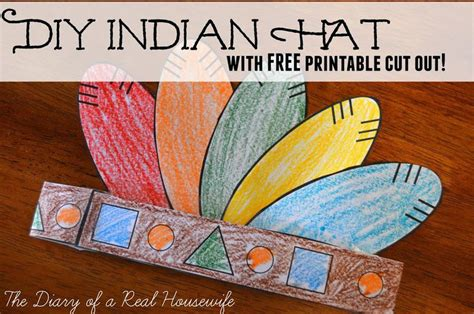 indian hat template diy indian hat with free printable cut out the diary of