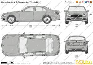 the blueprints vector drawing mercedes c