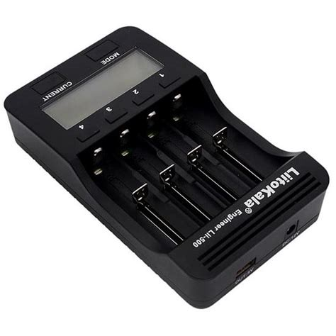Carger 4 Slot Usb liitokala charger baterai 18650 4 slot with usb output lii500 black jakartanotebook