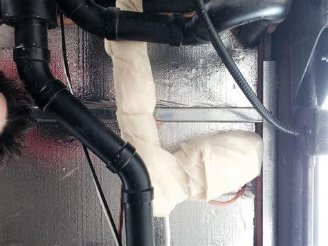 insulation around bathroom heater plumbing big tiny house